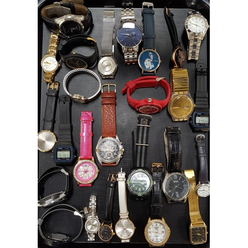 32 - SELECTION OF LADIES AND GENTLEMEN'S WRISTWATCHES including Tissot, Rotary, Swatch, Gant, ice Watch, ...
