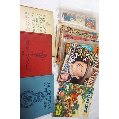373 - COLLECTION OF VINTAGE COMICS, MAGAZINES AND BOOKS including 1940s 'Archie', 'Fairy Tale Parade' and ...
