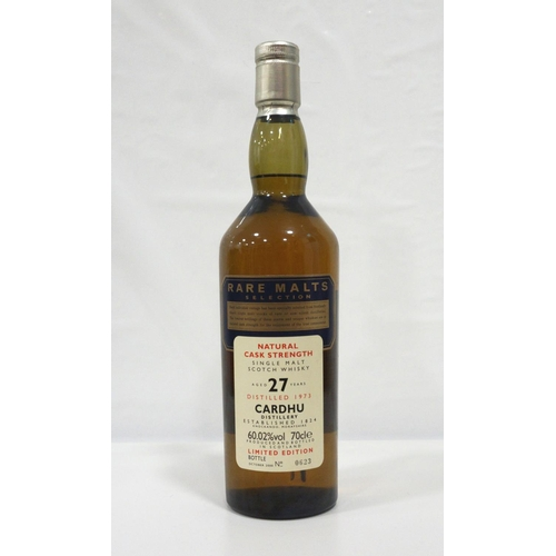 3 - CARDHU 27Y0 RARE MALTS A rare bottle of the Cardhu 27 Year Old Single Malt Scotch Whisky distilled i...