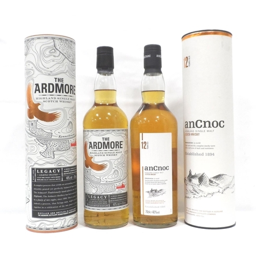7 - TWO BOTTLES OF HIGHLAND MALT A pair of bottles of Highland Whisky, comprising: one bottle AN CNOC 12...