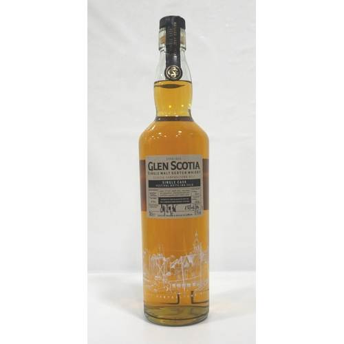 9 - GLEN SCOTIA FESTIVAL BOTTLING 2016 A fine single cask bottling from the resurgent Glen Scotia Distil...