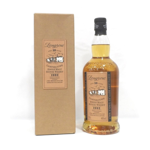 18 - LONGROW 10Y0 - 1992 Longrow was first produced at Springbank Distillery in 1973 as an experiment in ...