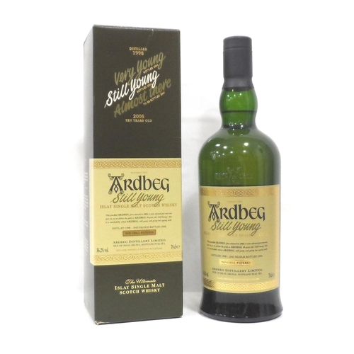 19 - ARDBEG STILL YOUNG Whilst waiting for the spirit to mature at the re-opened Ardbeg Distillery they r...