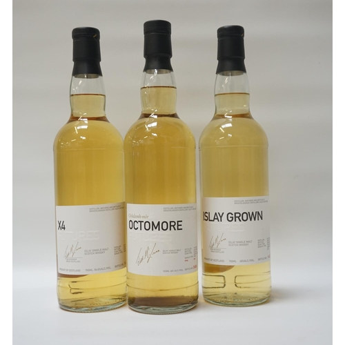24 - THREE BOTTLES OF BRUICHLADDICH FUTURES A selection of bottles from the Bruichladdich Futures bottlin...