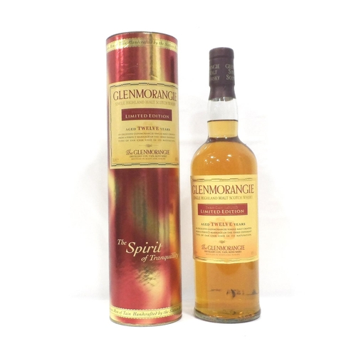 34 - GLENMORANGIE 12YO THREE CASK MATURED A Limited Edition bottling of the Glenmorangie 12 Year Old Sing...