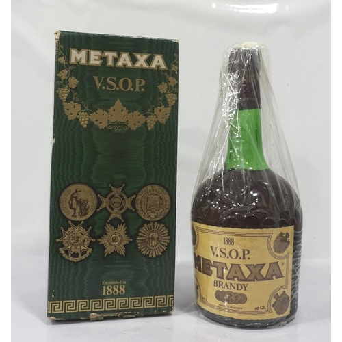 37 - METAXA V.S.O.P. BRANDY A special bottling of the famous Grecian Brandy Metaxa.  70cl.  40% abv.  Lev...