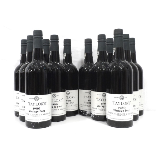 45 - TAYLOR'S 1980 VINTAGE PORT A case of Taylor's 1980 Vintage Port produced in a year that seems to hav...