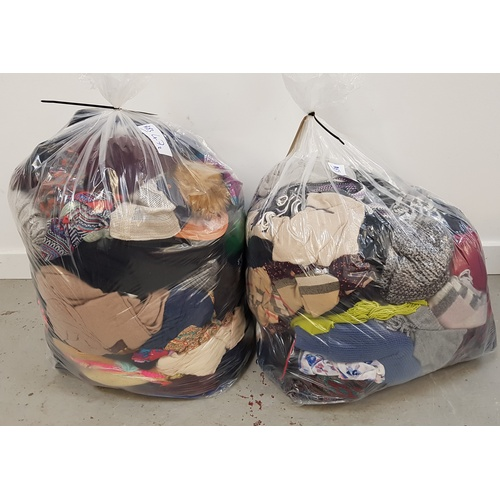47 - TWO BAGS OF HATS AND SCARVES...