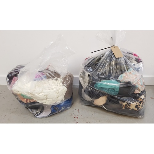 46 - TWO BAGS OF HATS AND SCARVES...