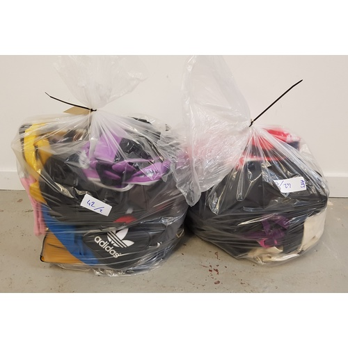 42 - TWO BAGS OF VARIOUS BAGS including: rucksacks; handbags; toiletry bags; etc....