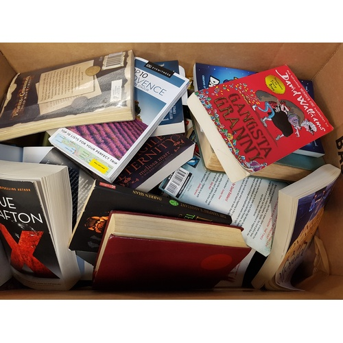 25 - ONE BOX OF USED AND NEW BOOKS...