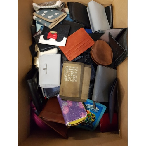 12 - ONE BOX OF PURSES AND WALLETS...