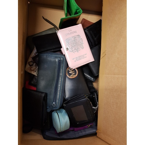 11 - ONE BOX OF PURSES AND WALLETS...