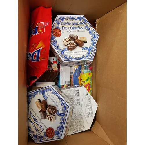 5 - ONE BOX OF CONSUMABLE ITEMS including: chocolates; Dime Bars; nutella; sweets; etc....