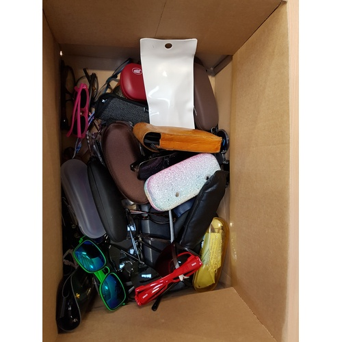 1 - ONE BOX OF BRANDED AND UNBRANDED SPECTACLES AND SUNGLASSES....