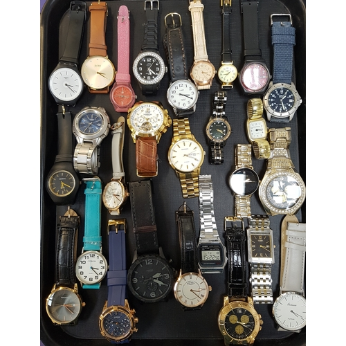 21 - SELECTION OF LADIES AND GENTLEMEN'S WRISTWATCHES including Swatch, Hugo Boss, Timex, Sekonda, Lorus,...