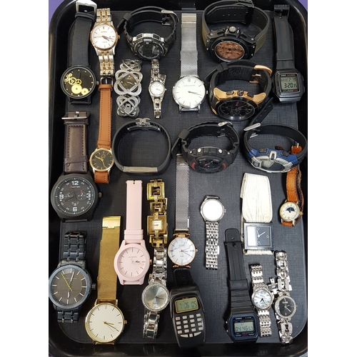 68 - SELECTION OF LADIES AND GENTLEMEN'S WRISTWATCHES including Larsson & Jennings, Casio, Hugo Boss, Ros...