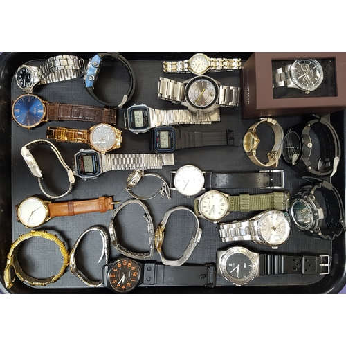 87 - SELECTION OF LADIES AND GENTLEMEN'S WRISTWATCHES including Sekonda, Diesel, Casio, Storm, Lorus, Tim...