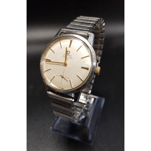 26 - GENTLEMEN'S OMEGA SEAMASTER 30 WRISTWATCH the champagne dial with baton five minute markers and subs...