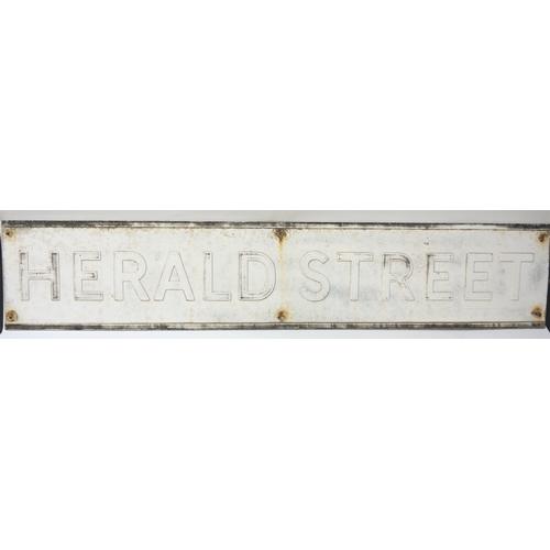 193 - ALUMINIUM ROAD SIGN for Herald Street, 116cm long...