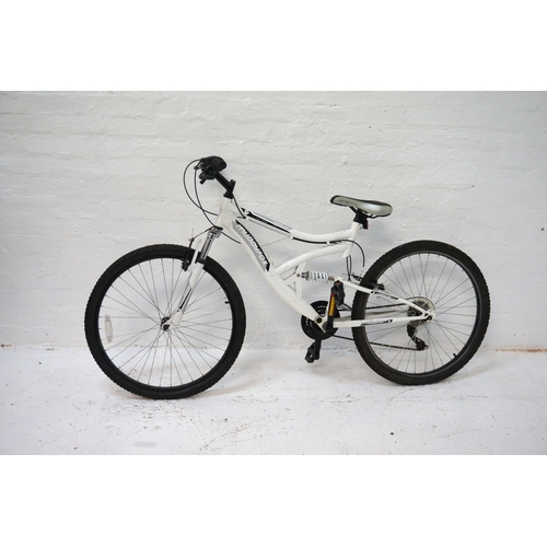 200 - MUDDY FOX LANDSLIDE MOUNTAIN BIKE with dual suspension and eighteen speed Shimano gears...