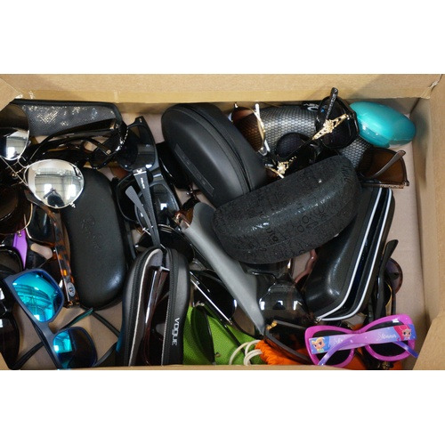 11 - ONE BOX OF BRANDED AND UNBRANDED SPECTACLES AND SUNGLASSES...