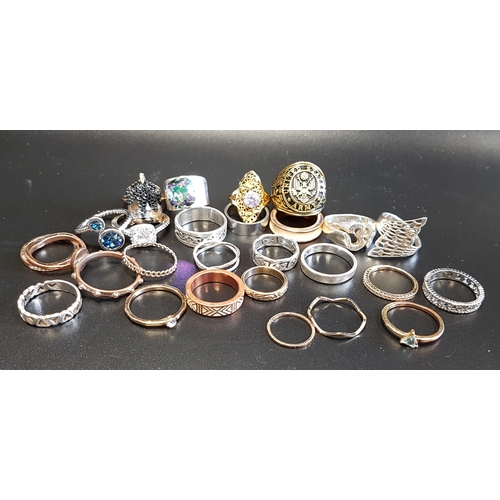 15 - SELECTION OF SILVER AND OTHER RINGS including stone set examples, 1 box...