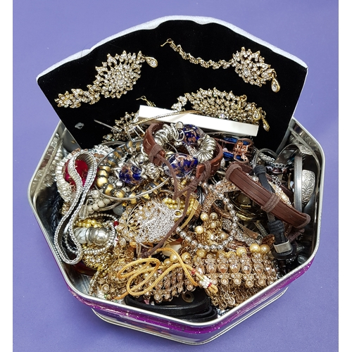22 - SELECTION OF COSTUME JEWELLERY including Indian style wedding jewellery, bangles, necklaces, pendant...