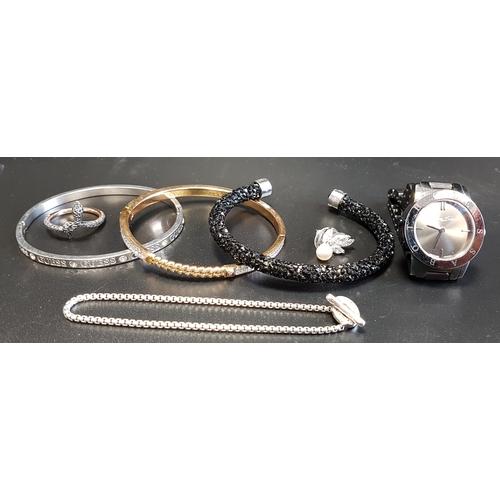 43 - GOOD SELECTION OF FASHION JEWELLERY comprising a Swarovski Crystal Dust bracelet, a Swarovski snake ...