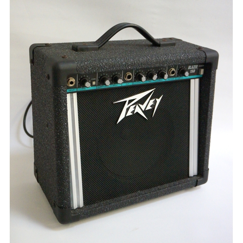 284 - PEAVEY BLAZER 158 AMPLIFIER serial number 00-05935240, with mono connector cable...