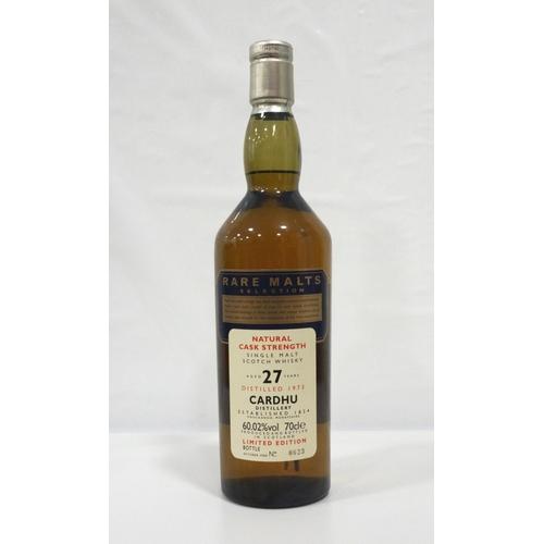 11 - CARDHU 27Y0 RARE MALTS A rare bottle of the Cardhu 27 Year Old Single Malt Scotch Whisky distilled i...