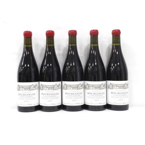 4 - CLOS BARDOT BOURGOGNE PINOT NOIR - VIEILLES VIGNES 2014 Five bottles of the Domaine de Bellene