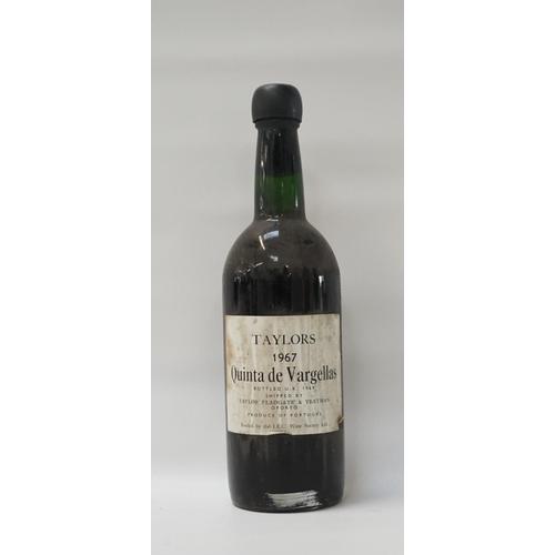 84 - TAYLORS QUINTA DE VARGELLAS 1967 VINTAGE PORT A rare and excellent bottle of the Taylors Quinta de V...