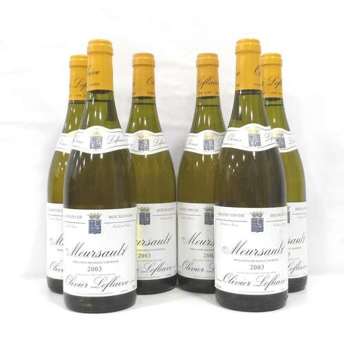 46 - OLIVIER LEFLAIVE MEURSAULT 2003 VINTAGE Six bottles of Olivier Leflaive Meursault 2003 Vintage Grand...