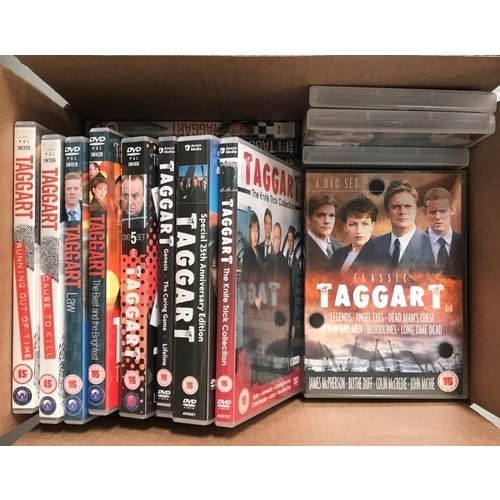 210 - LARGE SELECTION OF DVDs including the complete series of the ever popular Taggart television series...