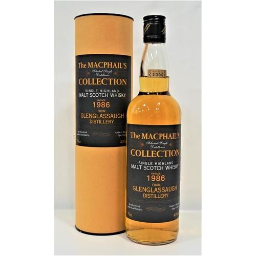 19 - GLENGLASSAUGH 1986 VINTAGE - THE MACPHAIL'S COLLECTION A bottle of Glenglassaugh 1986 Vintage Single...