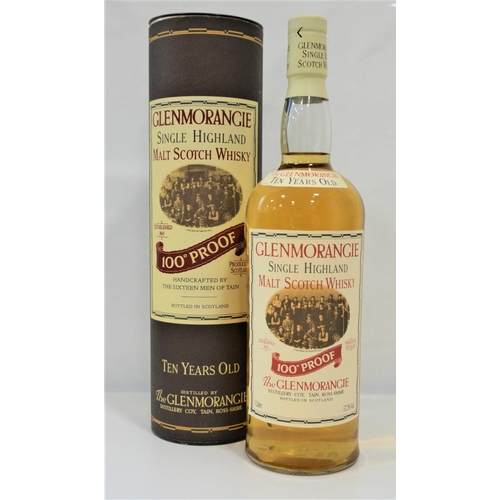 2 - GLENMORANGIE 100 PROOF A fine bottle of the Glenmorangie 10 Year Old 100 Proof Single Malt Scotch Wh...