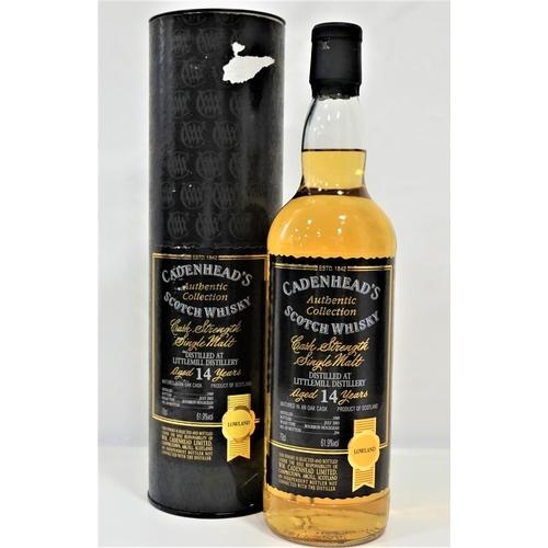20 - LITTLEMILL 14YO - CADENHEAD'S Bottled as part of Cadenhead's Authentic Collection.  Littlemill 14 Ye...