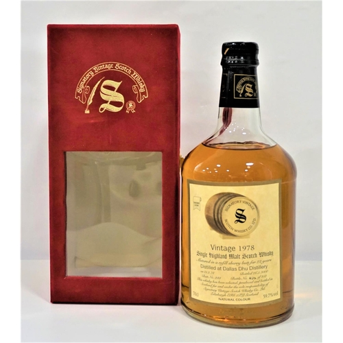 32 - DALLAS DHU 1978 SIGNATORY A great whisky from the Silent Distillery at Dallas Dhu from independent b...