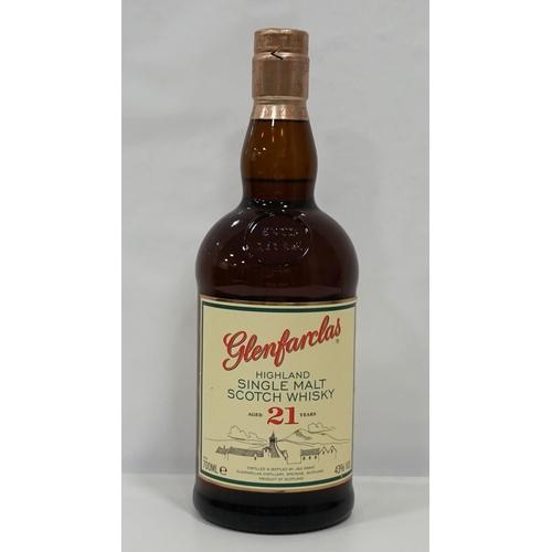 39 - GLENFARCLAS 21YO A nice bottle of the Glenfarclas 21 Year Old Single Malt Scotch Whisky.  700ml.  43...