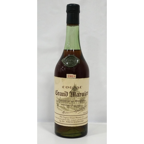 49 - GRAND MARNIER LAPOSTOLLE COGNAC 1865 A rare and wonderful bottle of the Chateau de Bourg Grand Marni...