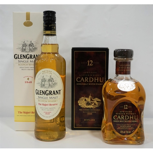 61 - TWO SINGLE MALTS A brace of Single Malts comprising: one Cardhu 12 Year Old Single Malt Scotch Whisk...