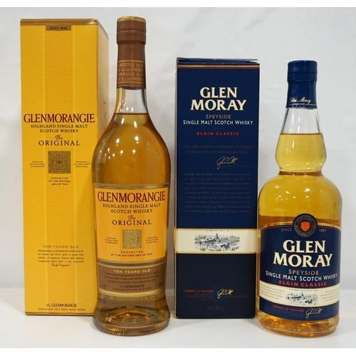 62 - TWO SINGLE MALTS A pair of single malts from the North of Scotland.  One bottle of Glen Moray Elgin ...