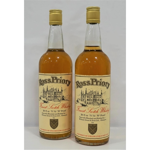 65 - ROSS PRIORY FINEST SCOTCH WHISKY A pair of bottles of the Ross Priory Blended Scotch Whisky bottled ...