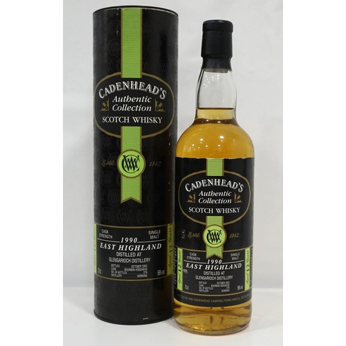 72 - GLEN GARIOCH 1990 - CADENHEAD'S  A good bottle of whisky from the lesser known Glen Garioch Distille...