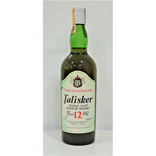 9 - TALISKER 12YO A great bottle of the Talisker 12 Year Old Single Malt Scotch Whisky bottled by The Di...