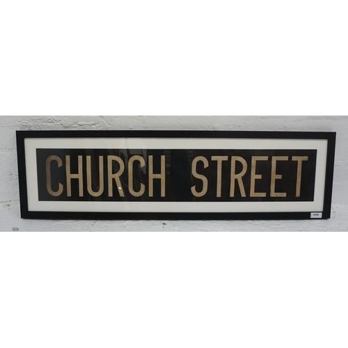 40 - ORIGINAL GLASGOW CORPORATION LINEN TRAM DESTINATION BLIND - CHURCH STREET circa 1940s from the older...