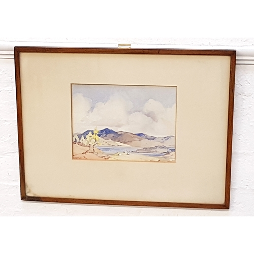 42 - G I SMITH Scottish Highland Scene, watercolour, signed, 19.5cm x 26.5cm; together with an English Sc...