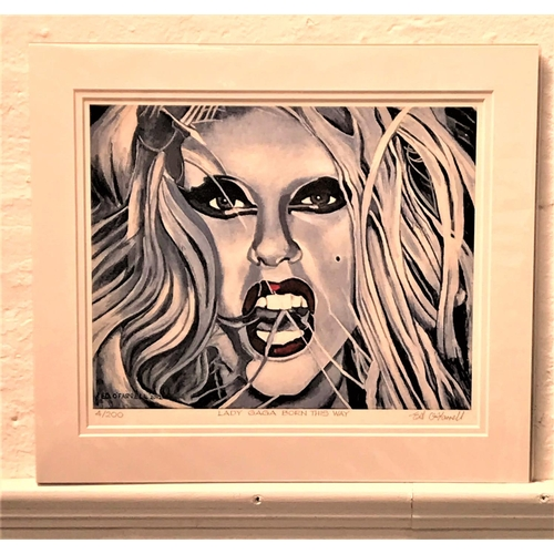 48 - ED O'FARRELL Lady Gaga Born This Way, limited edition print, signed and numbered 4/200, 28cm x 33.5c...