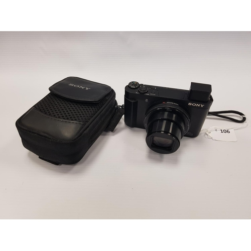106 - SONY DSC-HX90V DIGITAL CAMERA in original carry case....